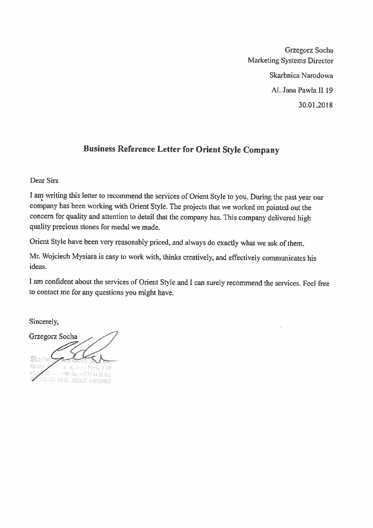 Skarbnica list referencyjny